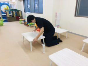 キッズスペースの抗ウイルス・抗菌対策(テーブル)