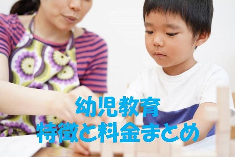 幼児教育の料金と特徴まとめ